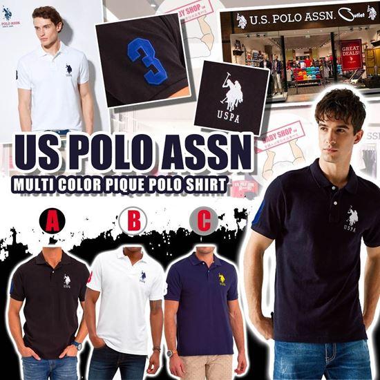 圖片 **貨品已截單**A P4U 9底: U.S. POLO ASSN 男裝大Logo Polo衫