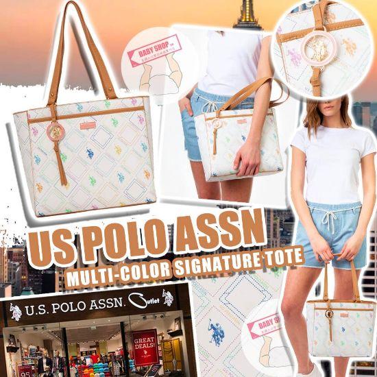 圖片 **貨品已截單**A P4U 空運: U.S. POLO ASSN. 彩色Logo托特包