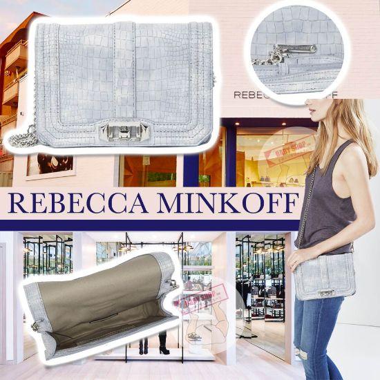 圖片 **貨品已截單**A P4U 空運: Rebecca Minkoff Love Croc 斜咩袋