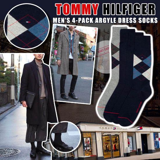 圖片 **貨品已截單**A P4U 9底: Tommy Hilfiger 男裝運動長襪4對裝