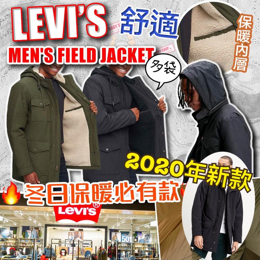 圖片 Levis 男裝中長厚外套