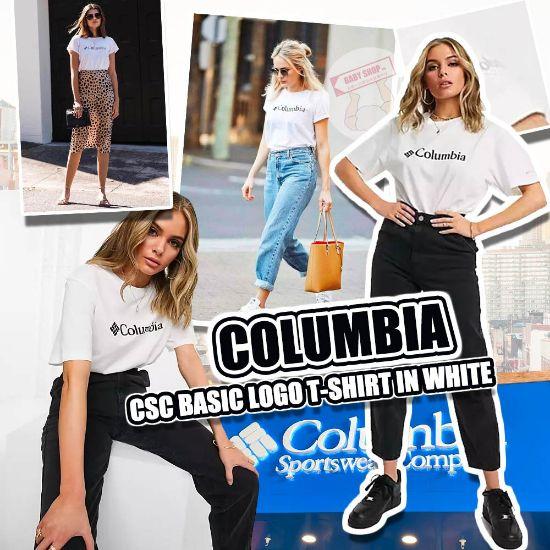圖片 *貨品已截單* A P4U 9底: Columbia CSC 女裝Logo白Tee
