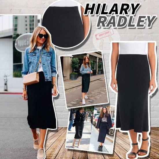 圖片 *貨品已截單* A P4U 9底: Hilary Radley 女裝高腰黑色半身裙