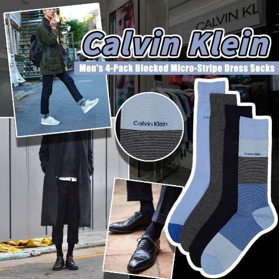 圖片 **貨品已截單**A P4U 9底: Calvin Klein 4對裝男裝中筒襪