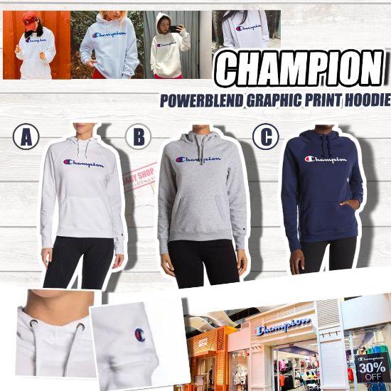 圖片 **貨品已截單**A P4U 9底: Champion 女裝Logo純色經典有帽衛衣