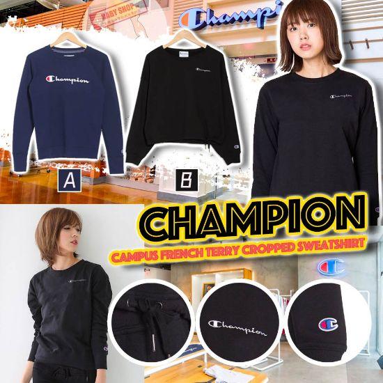 圖片 **貨品已截單**A P4U 9底: Champion 女裝圓領橫字Logo上衣