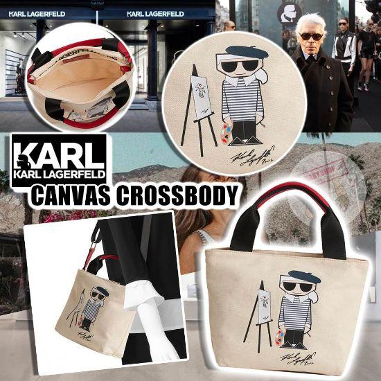 圖片 **貨品已截單**A P4U 空運: Karl Lagerfeld Paris 帆布斜咩包