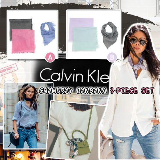 圖片 *貨品已截單*A P4U 空運: CALVIN KLEIN 女裝短板絲巾