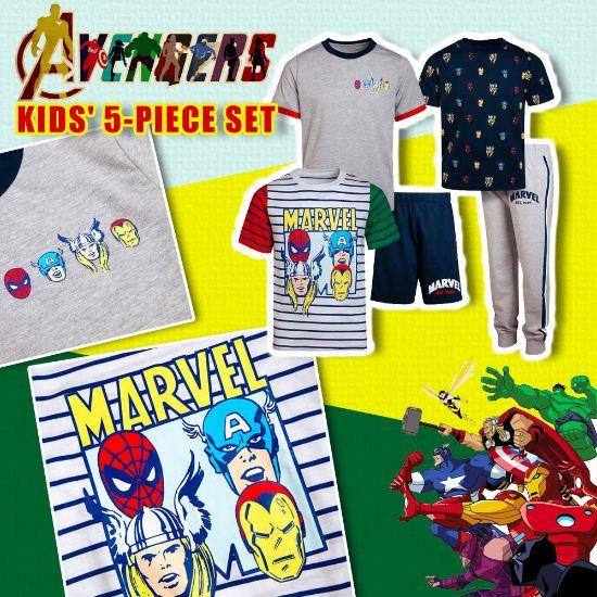 圖片 **貨品已截單**A P4U 10中: Avengers 小童五件套裝