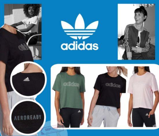 圖片 **貨品已截單**A P4U 10中: Adidas Logo女裝短款圓領上衣