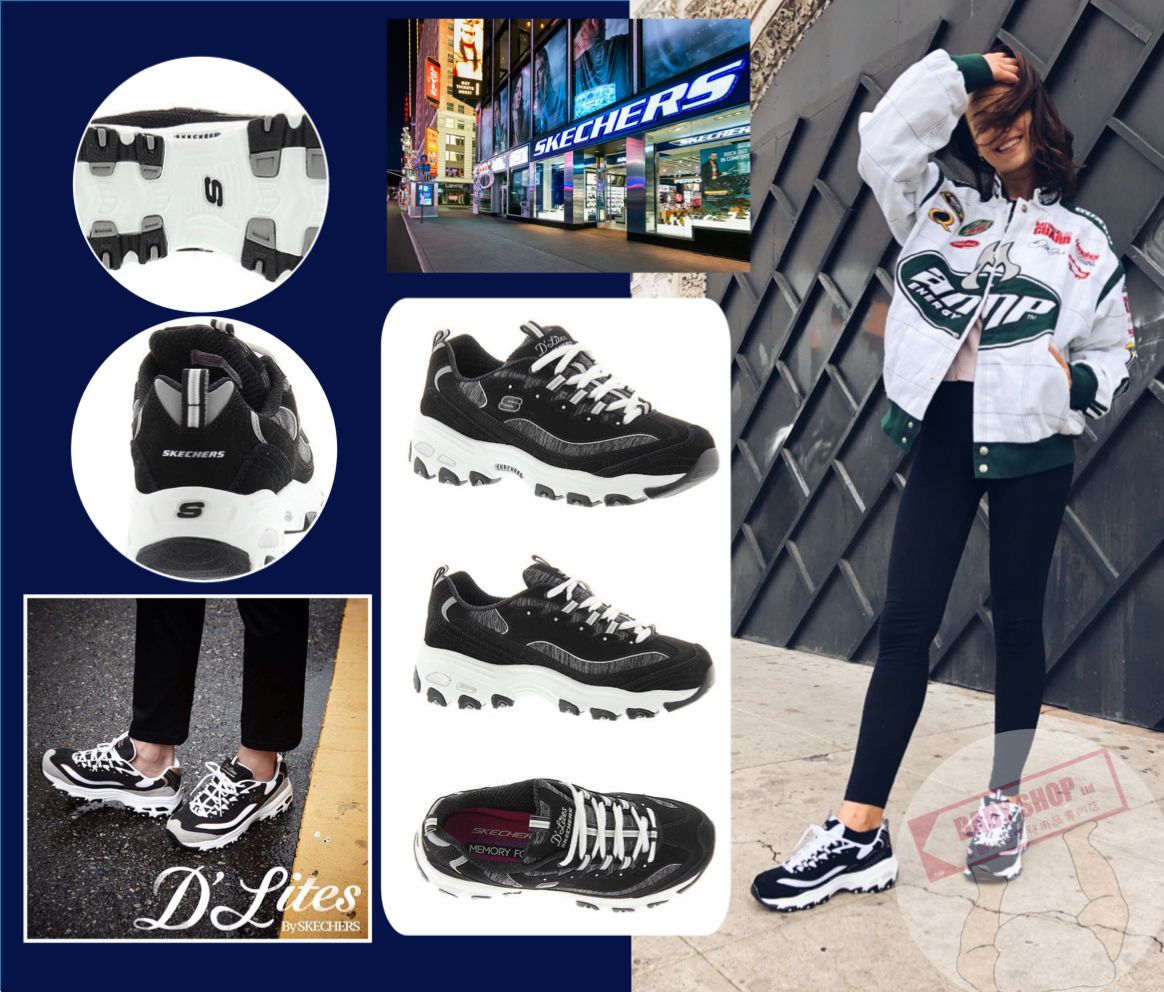 圖片 **貨品已截單**A P4U 10中: Skechers 女裝繫帶老爹鞋
