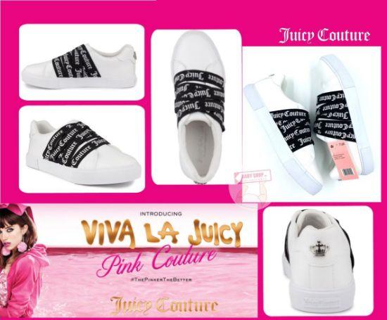 圖片 *貨品已截單* A P4U 10中: Juicy Couture 女裝小白鞋