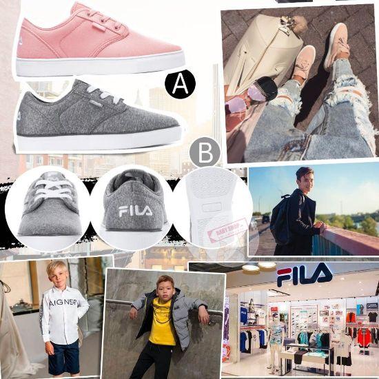 圖片 **貨品已截單**A P4U 10中: Fila 中童純色帆布鞋