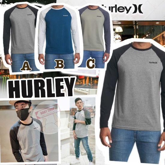 圖片 **貨品已截單**A P4U 10中: Hurley 小Logo男裝圓領長袖