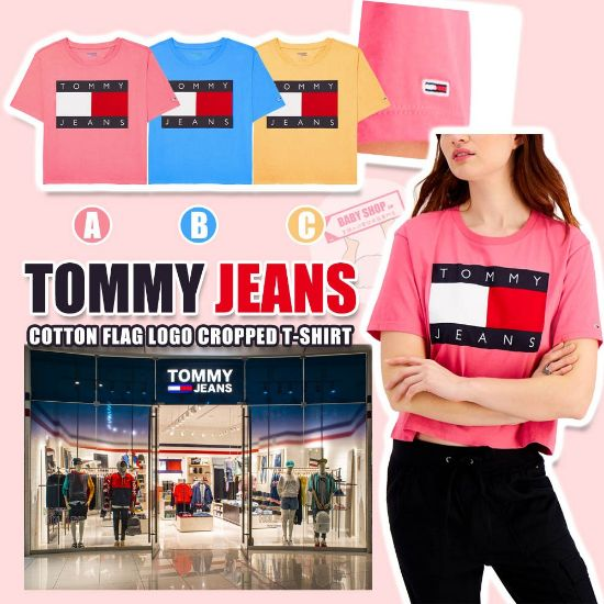 圖片 **貨品已截單**A P4U 10中: Tommy Hilfiger 女裝短款Logo上衣