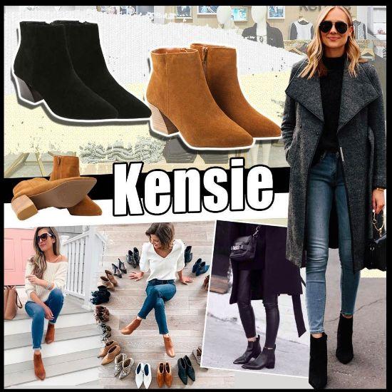 圖片 Kensie Lyden 女裝中跟短靴 黑色 US7
