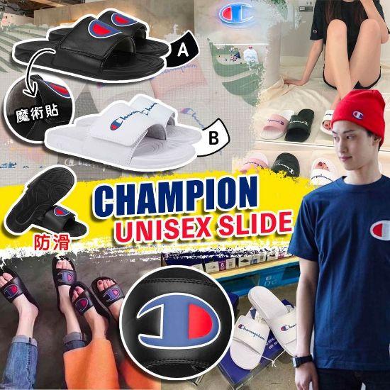 圖片 Champion 大Logo拖鞋 黑色 US8