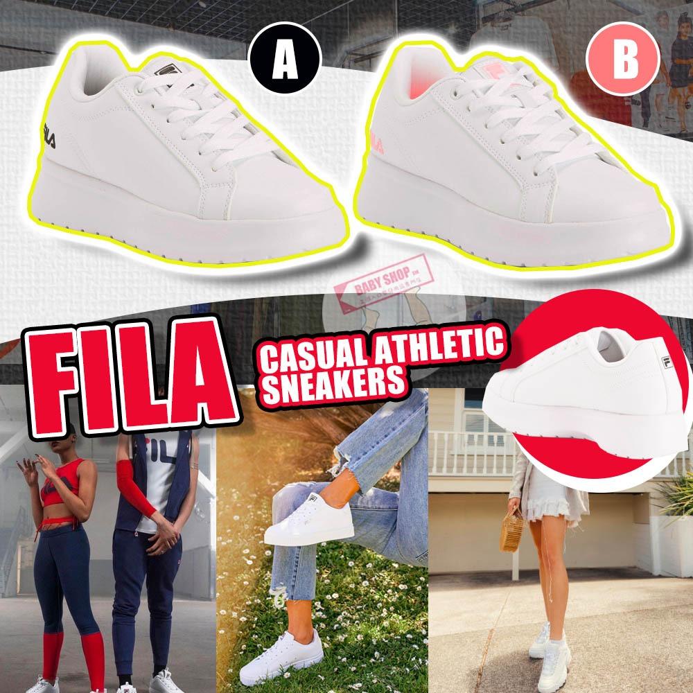 圖片 **貨品已截單**A P4U 10底: Fila 厚底小白鞋