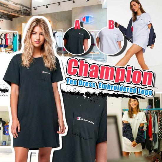 圖片 Champion 女裝休閒長裙Tee 淺灰 S