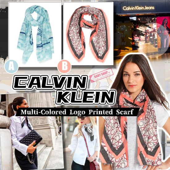 圖片 **貨品已截單**A P4U 10底: CALVIN KLEIN 大Logo頸巾