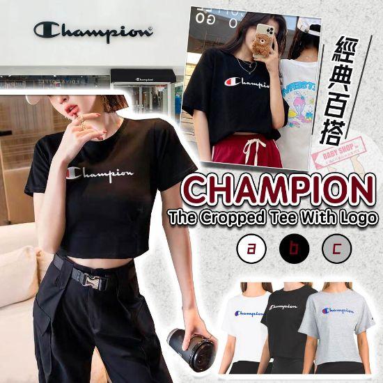 圖片 **貨品已截單**A P4U 10底: Champion 女裝短款Logo TEE