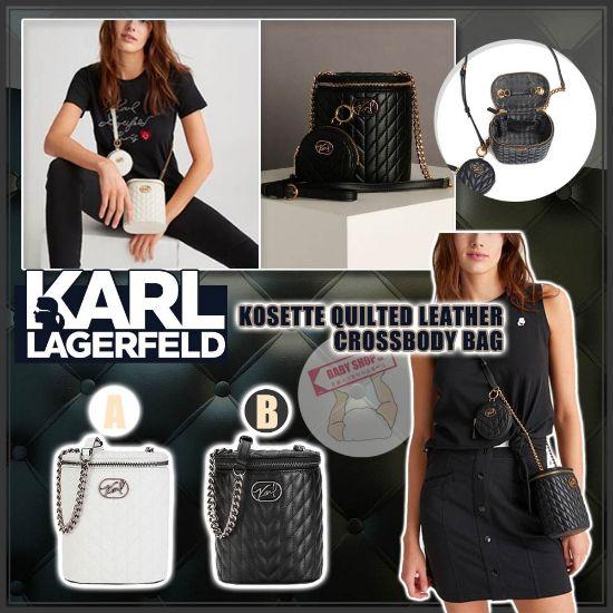 圖片 **貨品已截單**A P4U 空運: Karl Lagerfeld 老佛爺小香風菱格水桶包