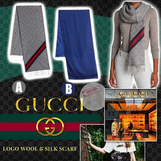 圖片 **貨品已截單**A P4U 空運: Gucci 經典全Logo羊毛圍巾 按金