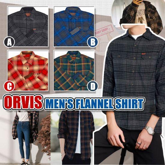 圖片 **貨品已截單**A P4U 10底: Orvis 男裝格仔長袖襯衫