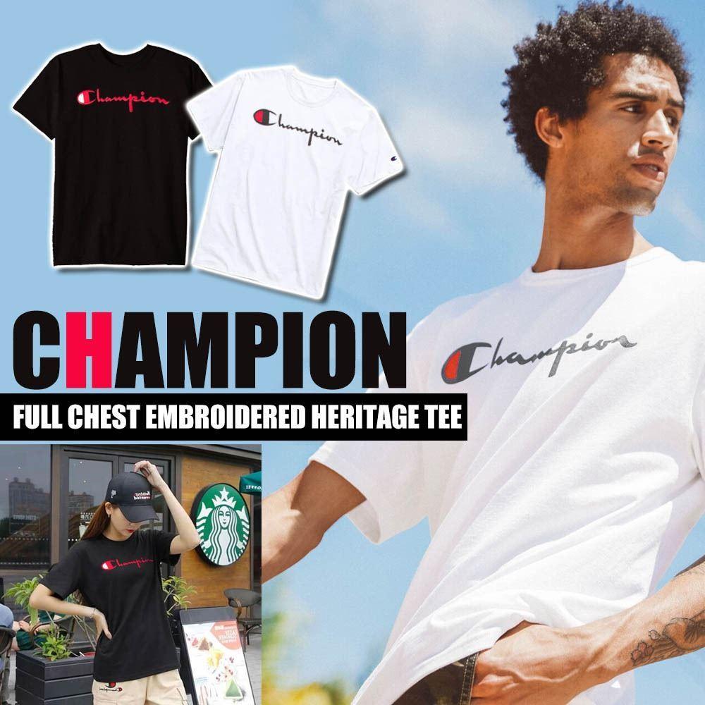 圖片 Champion 男裝橫字Logo 夏日Tee