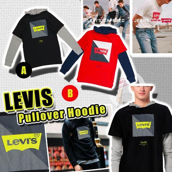 圖片 **貨品已截單**A P4U 10底: LEVIS 大童款Logo長袖有帽衫