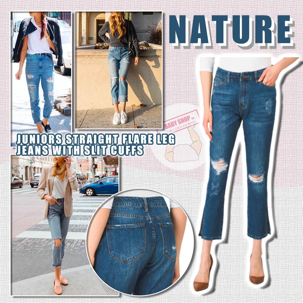 圖片 **貨品已截單**A P4U 10底: Nature Juniors 直筒喇叭裤高腰牛仔褲