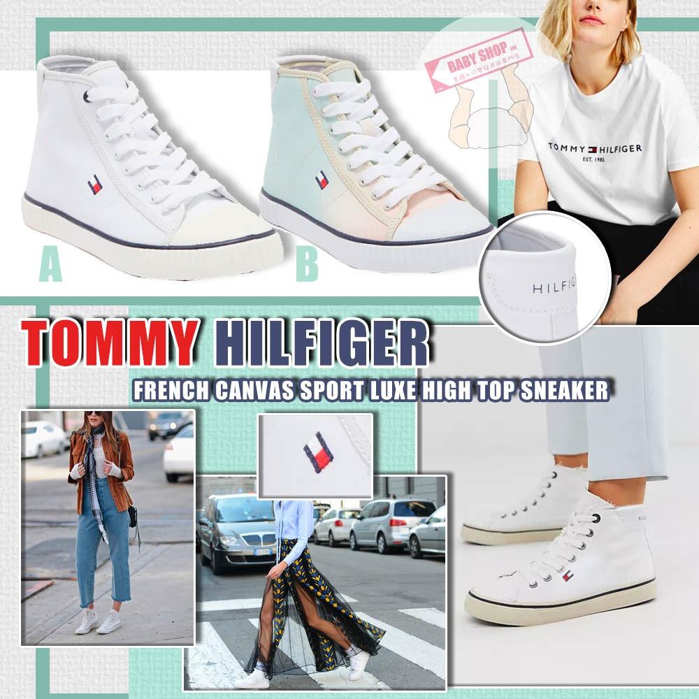 圖片 **貨品已截單**A P4U 10底: TOMMY HILFIGER 女裝高筒小白鞋