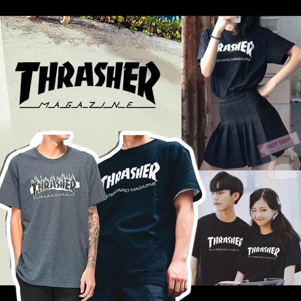 圖片 Thrasher 男裝火焰短Tee 黑色 S