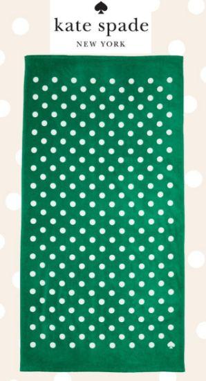 圖片 Kate Spade 綠色圓點大沙灘巾