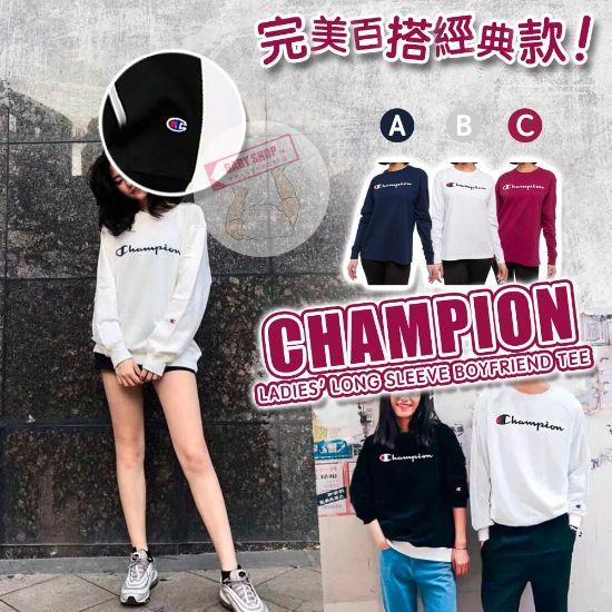 圖片 *貨品已截單*A P4U 10底: Champion 女裝秋季圓領橫字Logo上衣