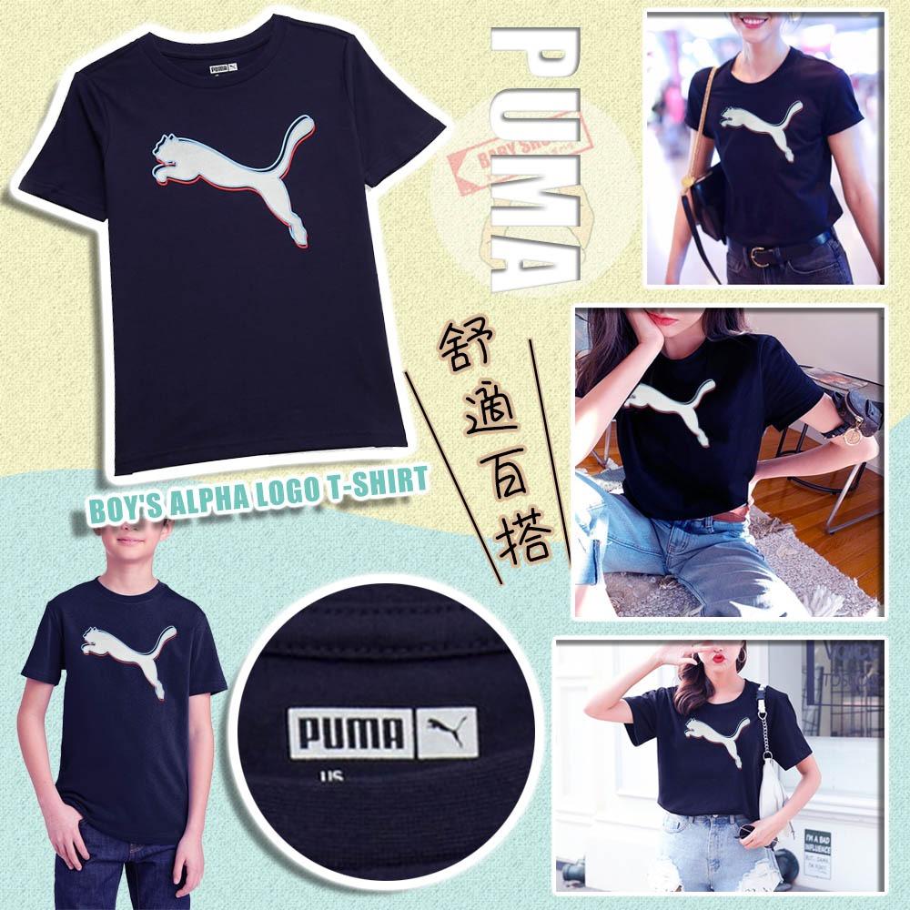 圖片 **貨品已截單**A P4U 11中: Puma 中童大Logo Tee (深藍)