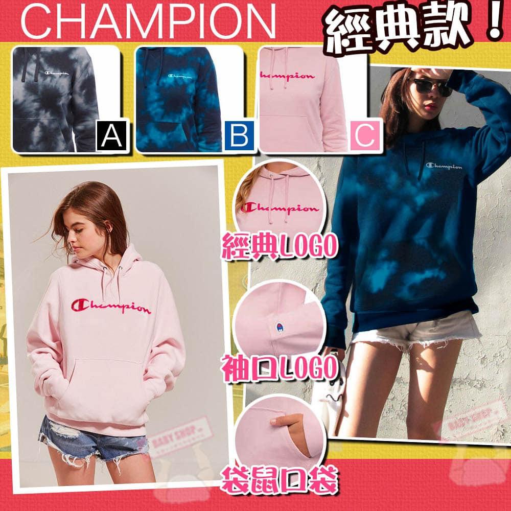 圖片 Champion 女裝草字有帽衛衣 (粉紅色)