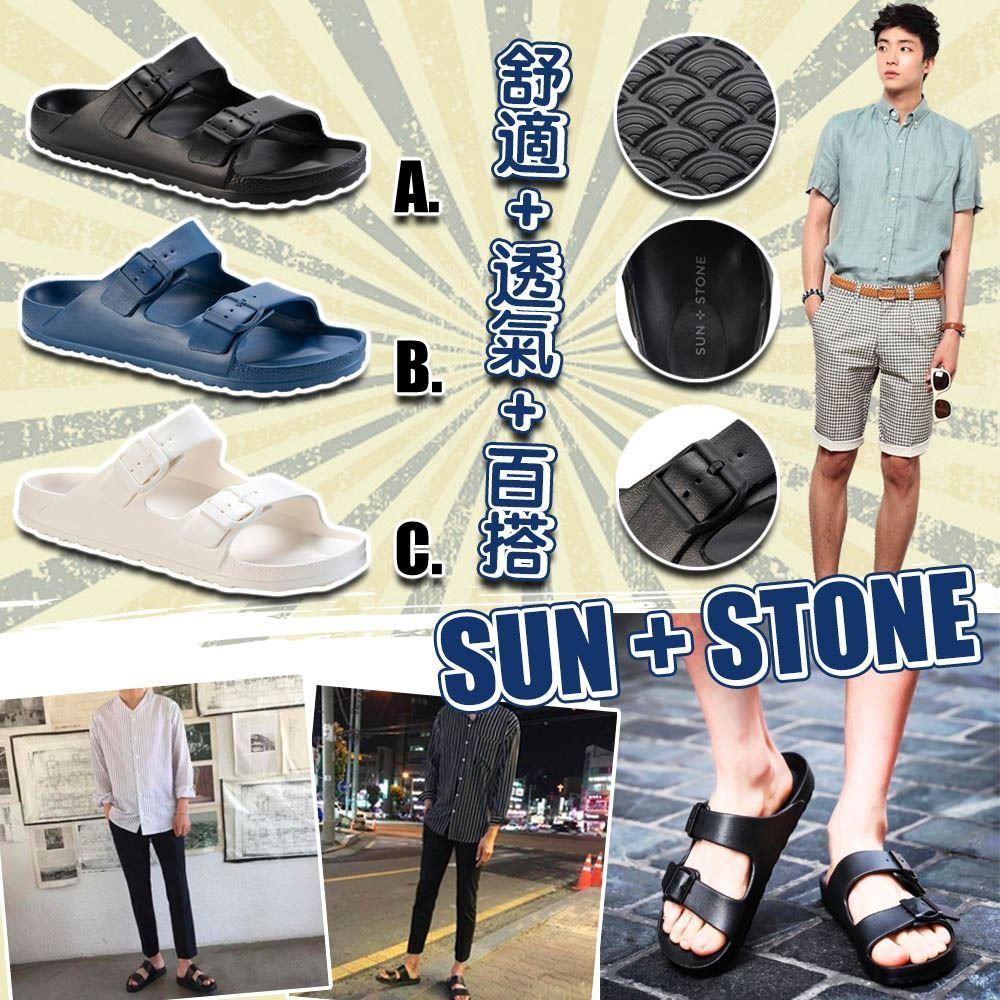 圖片 Sun + Stone 男裝輕裝拖鞋 C款 - 白色 US8