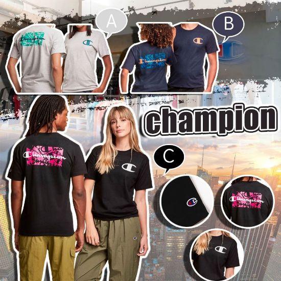 圖片 Champion C Logo 男裝經典Tee C款 - 黑色 S
