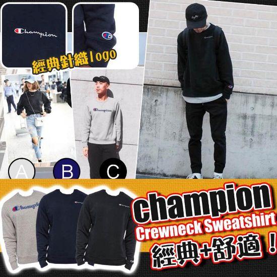 圖片 Champion Crewneck 圓領衛衣 (黑色) XXL