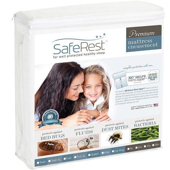 圖片 SafeRest 頂級純棉 防水抗過敏床墊保護套 (9吋)