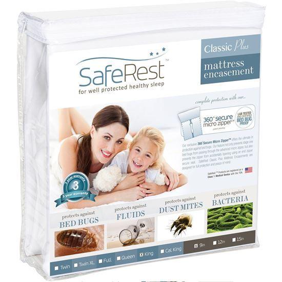 圖片 SafeRest 經典輕薄 防水抗過敏床墊保護套 (9吋)