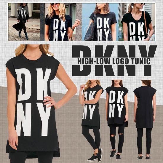 圖片 *貨品已截單*A P4U 11中 : DKNY 女裝LOGO上衣(黑色)
