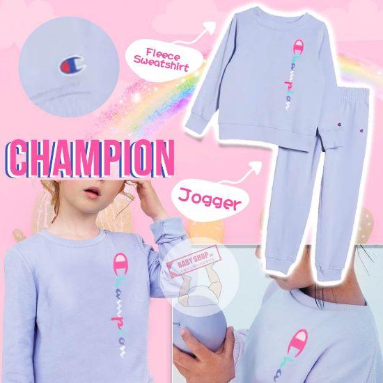圖片 *貨品已截單*A P4U 11 底:champion 中童套裝(淡紫色)
