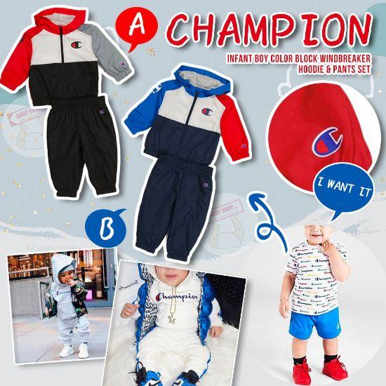 圖片 *貨品已截單*A P4U 12頭:Champion小童套裝