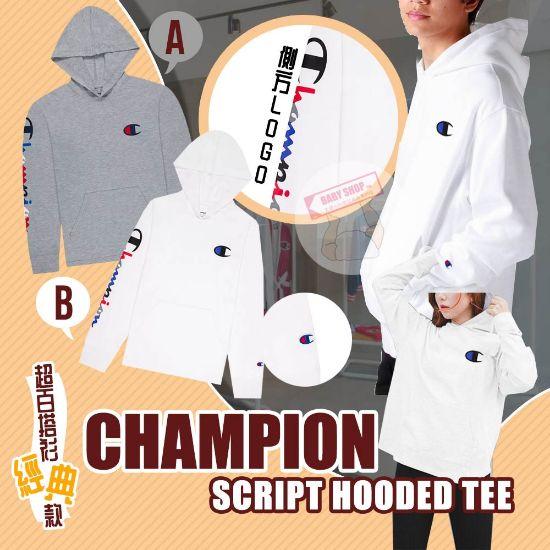 圖片 *貨品已截單*A P4U 12頭:Champion Script 長袖連帽衣